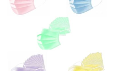 Masques trois plis de couleurs – Type IIR – Norme EN 14683: 2019